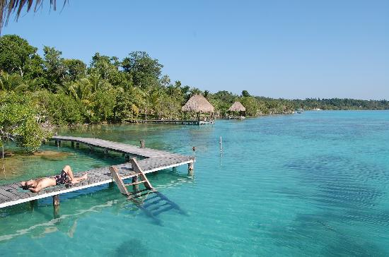 Kuuch Kaanil Villas Eco As Swimming Area In Front Of Resort Laguna De Bacalar