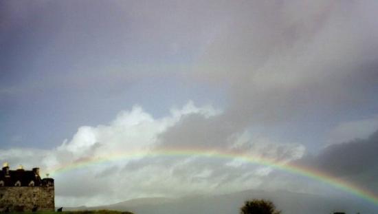 Isle of Mull, UK: Double rainbow