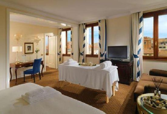 The Westin Europa & Regina, Venice: In-room spa setup in Premium Deluxe Room