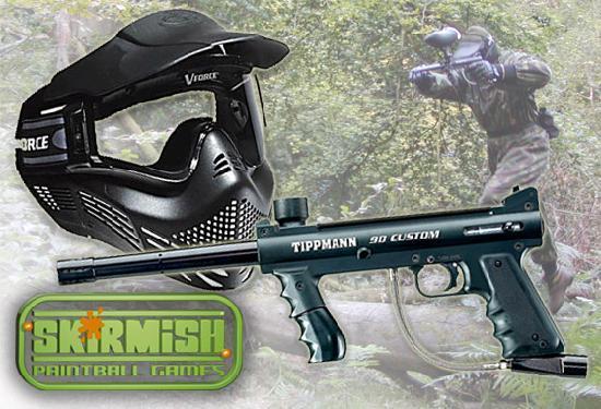 Skirmish Paintball Games Exeter: Gun and Mask at Skirmish