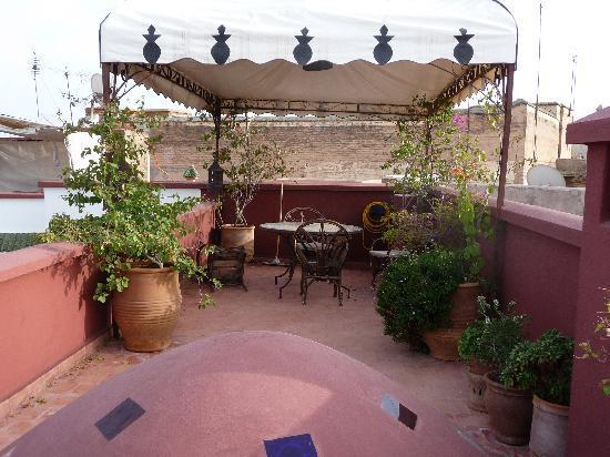 Dar Nouba : part of the roof terrace