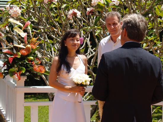 Waipio Wayside B&B: Wedding at Waipio Wayside