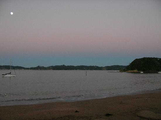 YHA Bay of Islands Paihia: Beach at end of the road