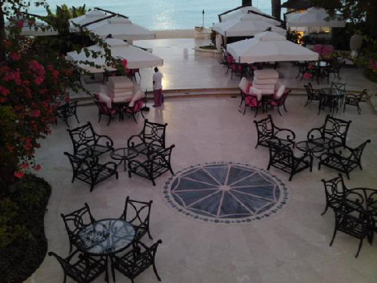 Sandy Lane Hotel: setting up for the day
