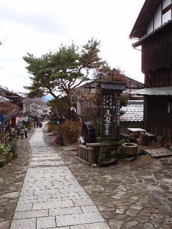 中津川市, 岐阜県, 整備された石畳