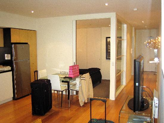 About Melbourne Apartments: From lounge looking to bedrooms/hallway