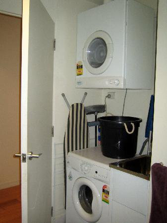 About Melbourne Apartments: Laundry (in bathroom)
