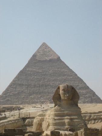 Kheopspyramiden: pyramid & Sphinx