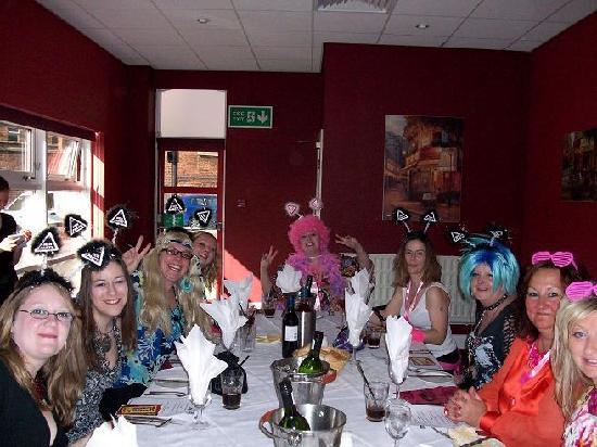 The Castlefield Hotel: Our hen dinner at the Castlefield