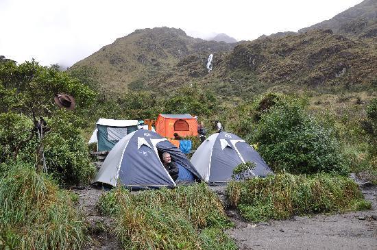 Llama Path: Morning wake up with hot coca tea at Pacaymayu Camp (11,700ft)