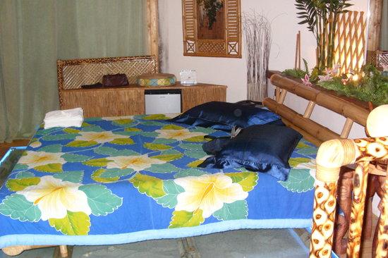 Bella Mbriana Hotel de Charme: letto in bamboo