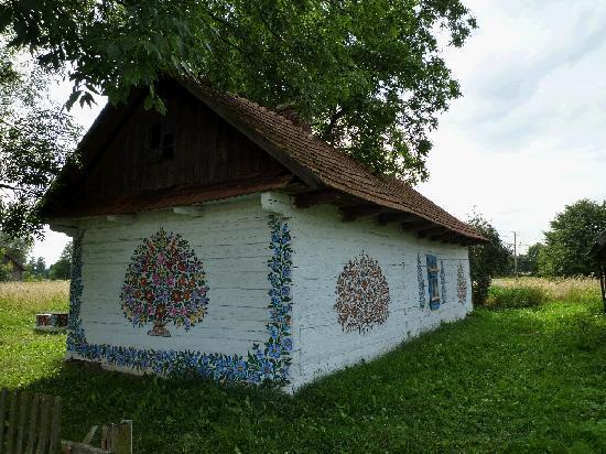Olesno, Poland: こんな家が点在しています