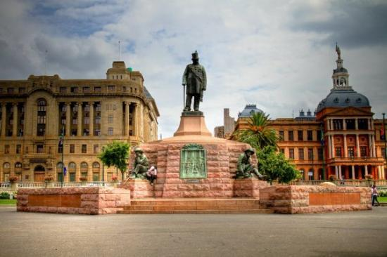 Pretoria, South Africa: The center of Church Square. The statue is of Mr. Krueger.
