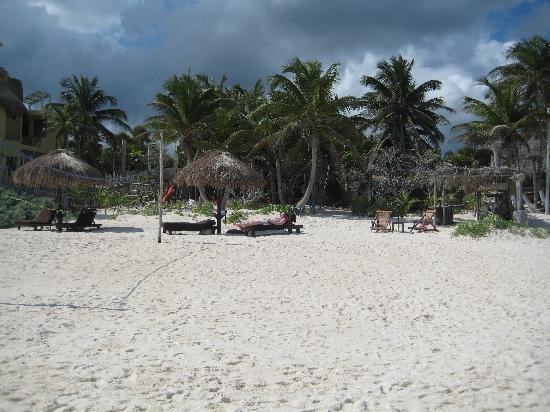 Playa Selva beach from the water