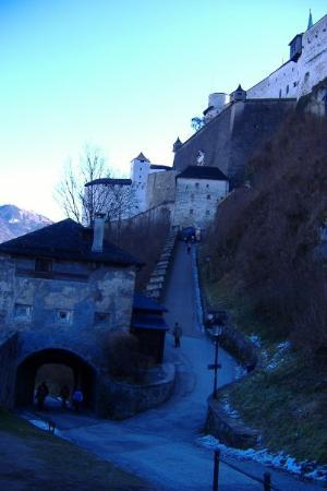 The fortress.  It doesn't look like it, but this is a hard climb!  Of course you don't see the h