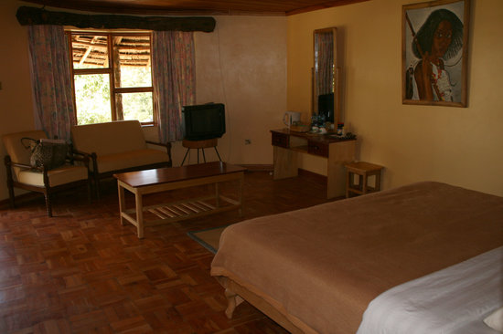 Eldoret, Kenia: Bedroom in stone cottage