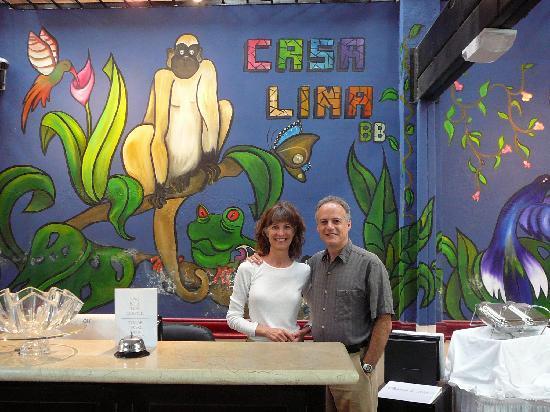 Casa Lima B & B: front desk mural