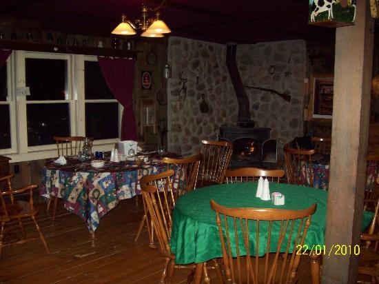 The Woodshed Lodge: The WoodShed Stove in the Dining Room