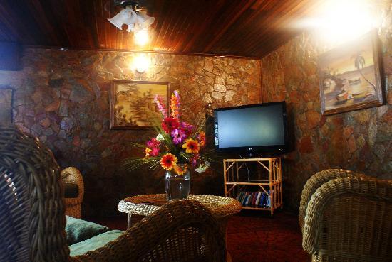 Hotel Castillo El Milagro: el lobby/lounge con plasma enorme