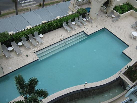 The Grand Apartments: Pool view from our apartment level 7