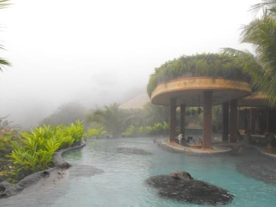 The Springs Resort and Spa... in the fog/clouds.