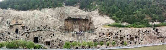 Luoyang, China: Long man caves