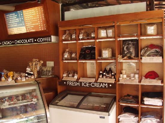 Ah Cacao Chocolate Café display case