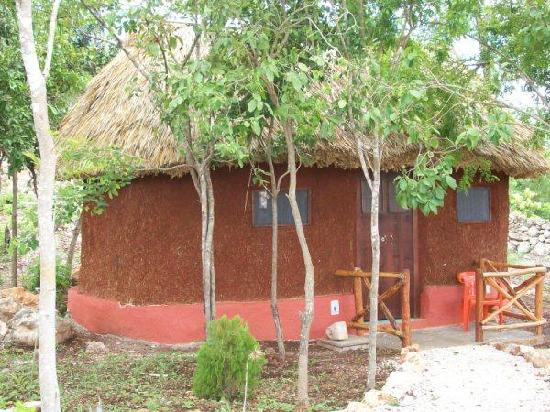 The Pickled Onion B&B & Restaurant Uxmal: View of the Front of One of the Mayan Style Cabanas