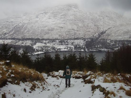 Claymore Hotel: Arrochar from path up The Cobbler