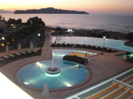Cretan Dream Royal: view from room at night