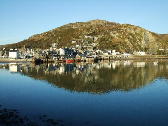 Barmouth, UK: The harbour on a sunny day in January
