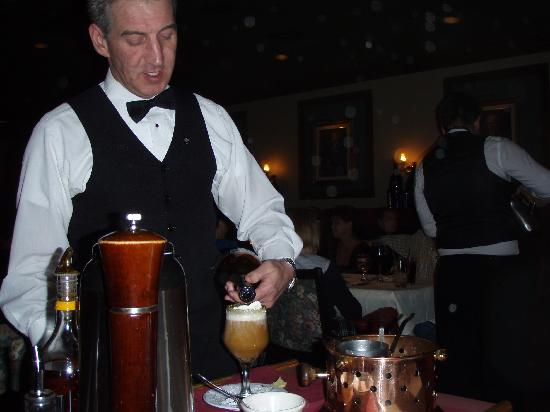 The Diplomat Steakhouse : Flaming spanish coffee