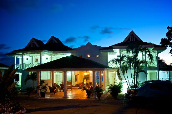 Bacolet Beach Club at night