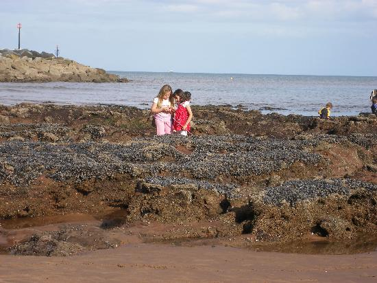 Royal Glen Hotel : Daughter and friend on the beach