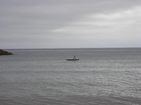 Royal Glen Hotel: The sea (me in the boat)