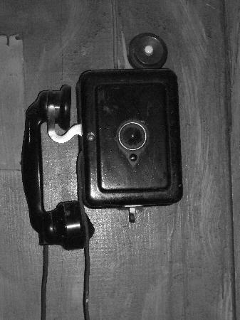 An interesting telephone near to the ski locker room