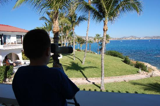 One & Only Palmilla Resort : My nephew on his terrace.