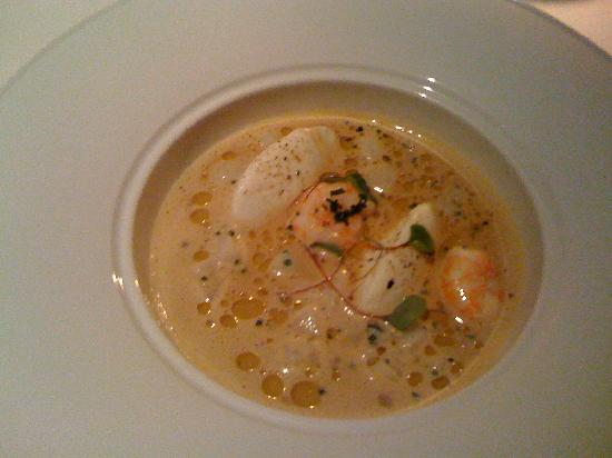 The Peat Inn: Starter - Langoustine bisque