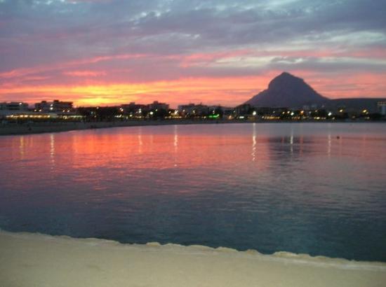 Benitachell, Spain: Sunset at Javea