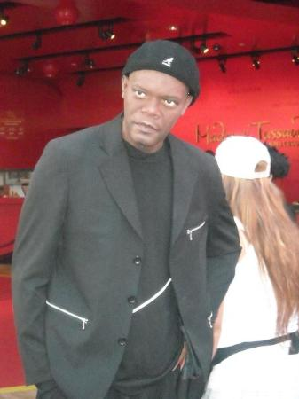 Madame Tussauds Hollywood: I was talking and talking and he just starred at me...how rude!! LOL