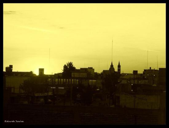 """""""En la terraza"""" (Apizaco, Tlaxcala)"""