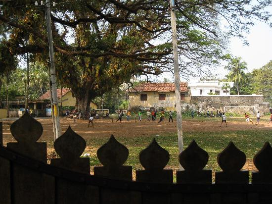Kapithan's Inn: The parade grounds from the gate
