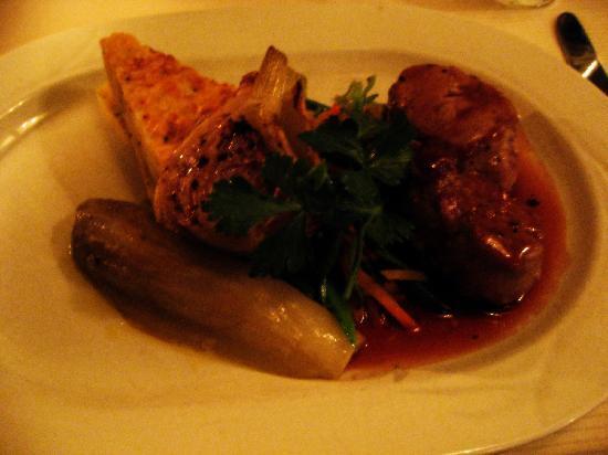 Boerderij Langerlust: 鹿肉のステーキ、ポテトのミルフィーユetc