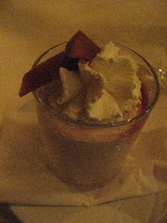 Boerderij Langerlust: デザートのイチジクのムース