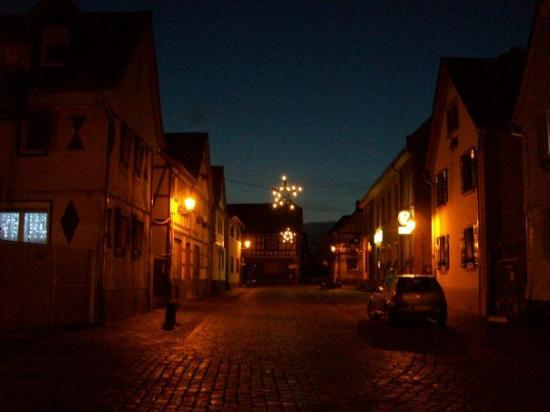Maintal, Deutschland: Hochstadt Germany  first night when Jutta and I were walking the streets of the village. Notice