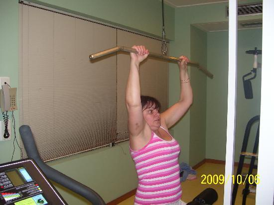H·TOP Pineda Palace: haveing a work out