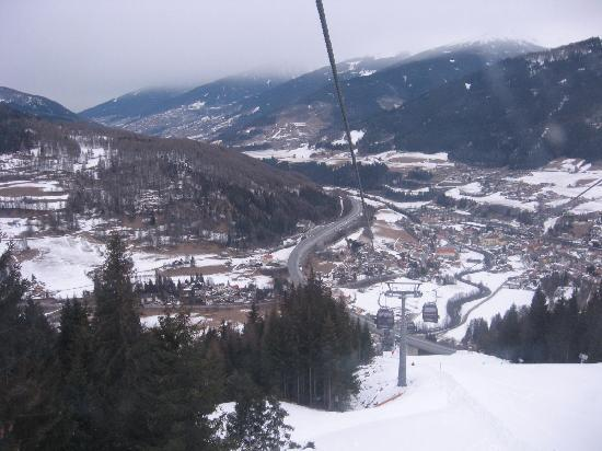Hotel Kirchdach: the view from funicular