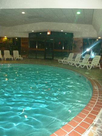 Our Fireside Lounge Area And Fitness Area Picture Of Evergreen Resort Cadillac Tripadvisor