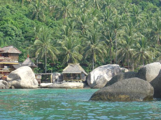 Charm Churee Villa: View of the bay from the sea