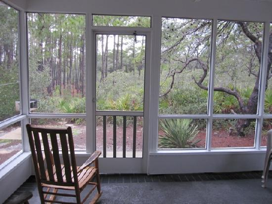 Cabins At Grayton Beach State Park: View From The Screened In Back Porch    Path